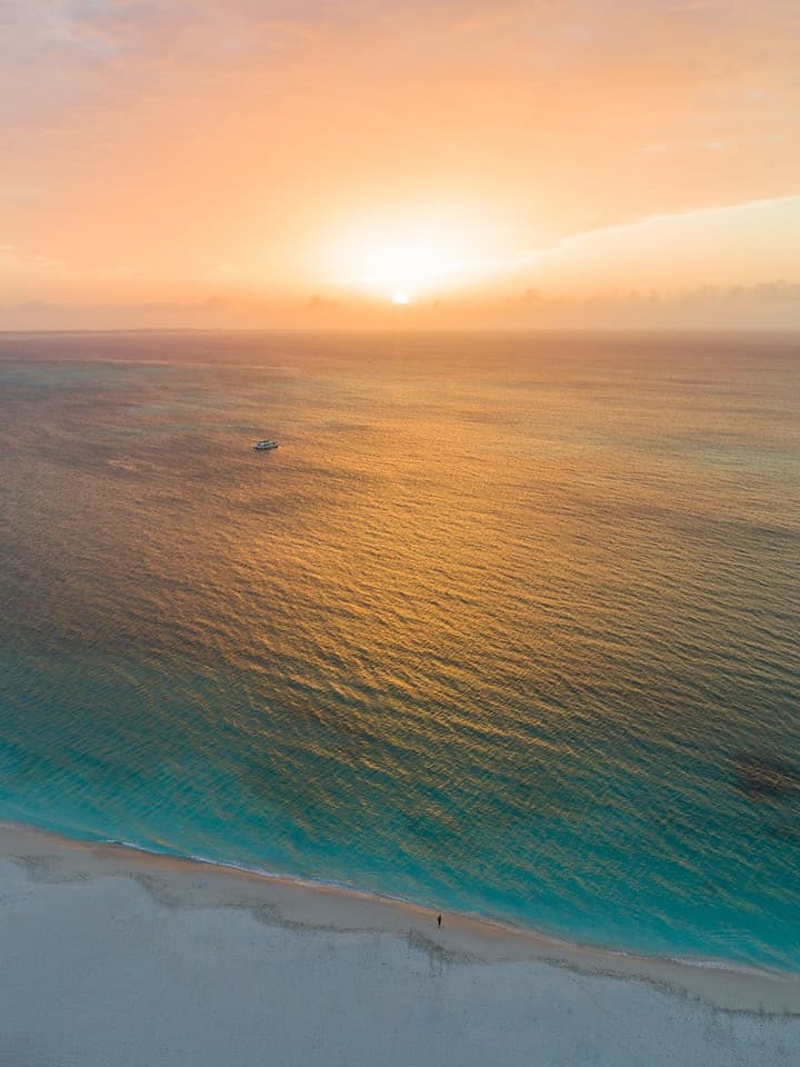 Atardecer en Grace Bay